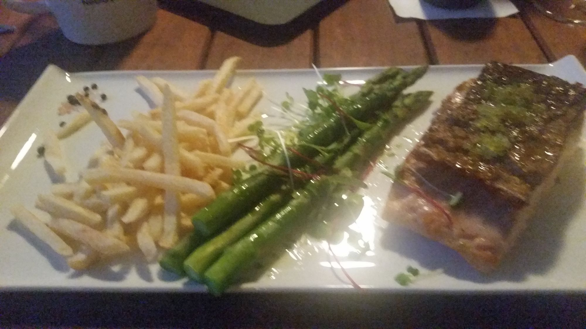 Salmon, Finger Lime and Asparagus